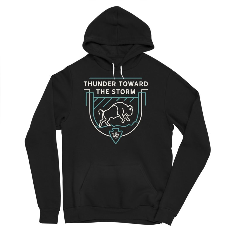 STORM + WALKINGSTICK DESIGN CO. Men's Sponge Fleece Pullover Hoody by WalkingStick Design's Artist Shop