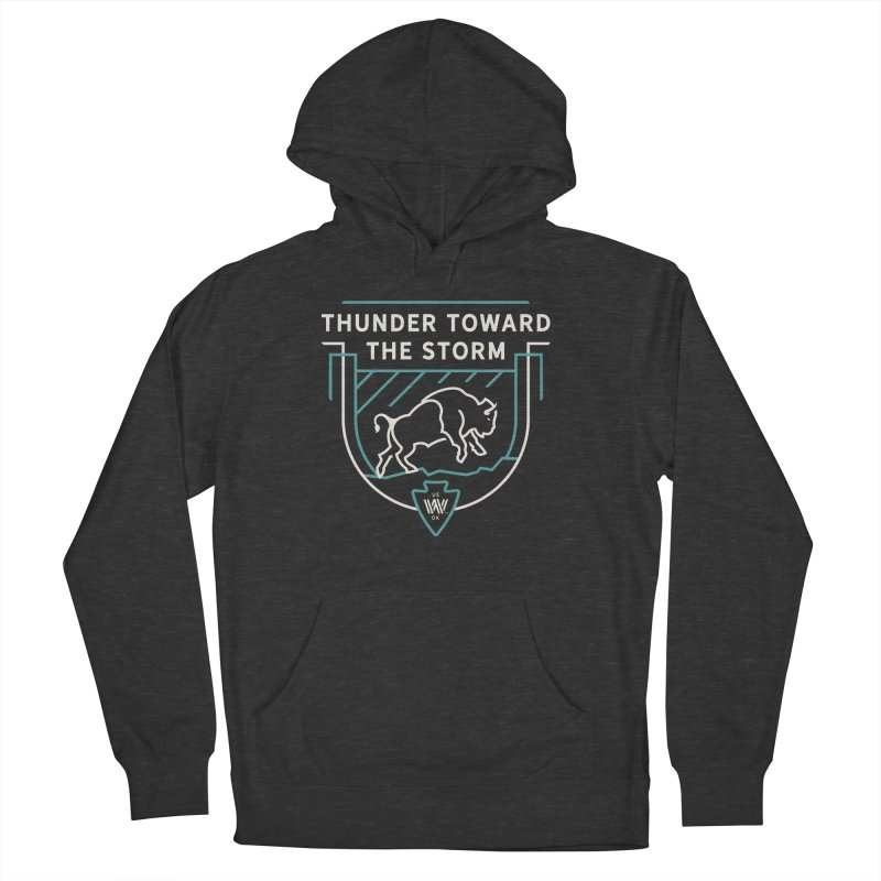 STORM + WALKINGSTICK DESIGN CO. Women's French Terry Pullover Hoody by WalkingStick Design's Artist Shop