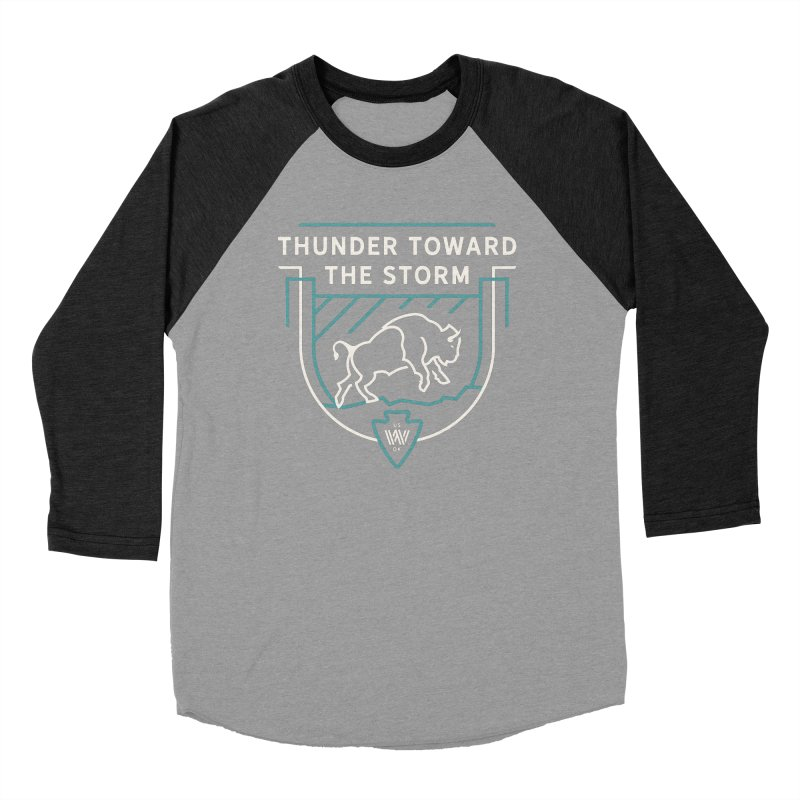 STORM + WALKINGSTICK DESIGN CO. Women's Baseball Triblend Longsleeve T-Shirt by WalkingStick Design's Artist Shop
