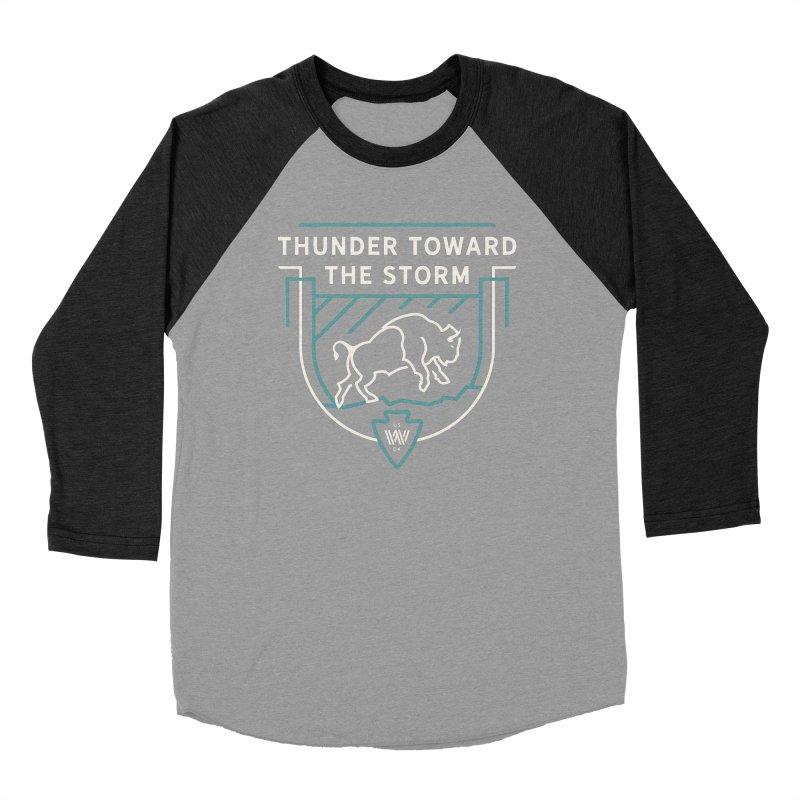 STORM + WALKINGSTICK DESIGN CO. Men's Baseball Triblend Longsleeve T-Shirt by WalkingStick Design's Artist Shop