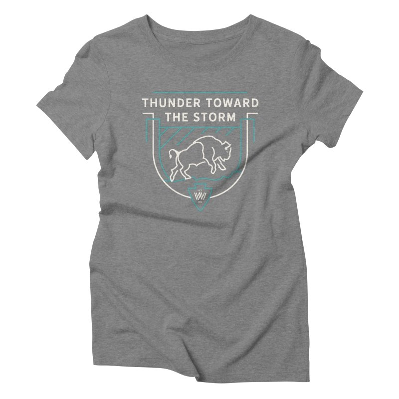 STORM + WALKINGSTICK DESIGN CO. Women's Triblend T-Shirt by WalkingStick Design's Artist Shop