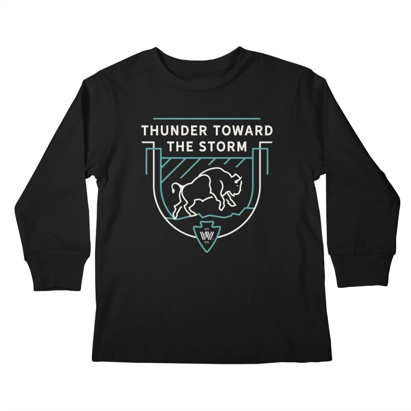 STORM + WALKINGSTICK DESIGN CO. Kids Longsleeve T-Shirt by WalkingStick Design's Artist Shop