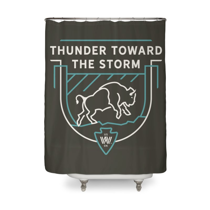 STORM + WALKINGSTICK DESIGN CO. Home Shower Curtain by WalkingStick Design's Artist Shop