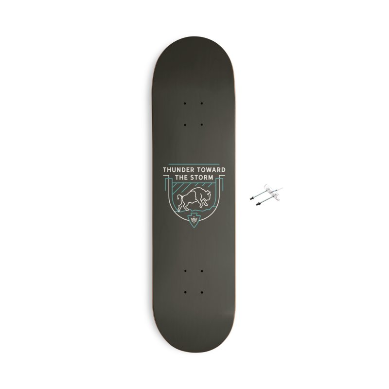 STORM + WALKINGSTICK DESIGN CO. Accessories With Hanging Hardware Skateboard by WalkingStick Design's Artist Shop