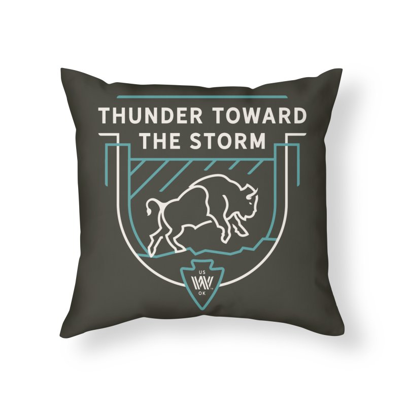STORM + WALKINGSTICK DESIGN CO. Home Throw Pillow by WalkingStick Design's Artist Shop