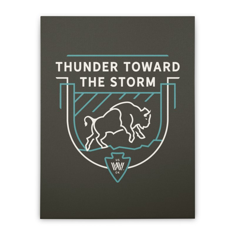 STORM + WALKINGSTICK DESIGN CO. Home Stretched Canvas by WalkingStick Design's Artist Shop