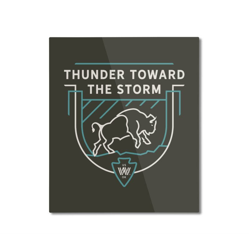 STORM + WALKINGSTICK DESIGN CO. Home Mounted Aluminum Print by WalkingStick Design's Artist Shop