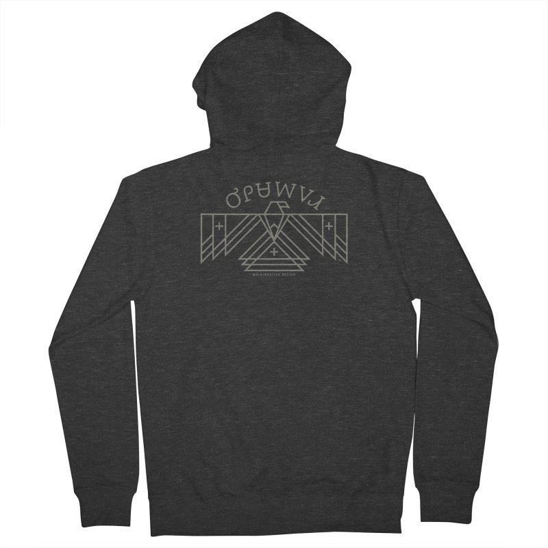 THUNDERBIRD + WALKINGSTICK DESIGN CO. Women's French Terry Zip-Up Hoody by WalkingStick Design's Artist Shop