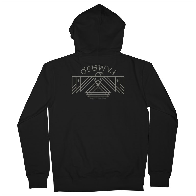 THUNDERBIRD + WALKINGSTICK DESIGN CO. Men's Zip-Up Hoody by WalkingStick Design's Artist Shop