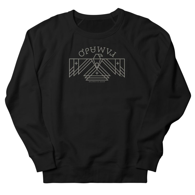 THUNDERBIRD + WALKINGSTICK DESIGN CO. Women's French Terry Sweatshirt by WalkingStick Design's Artist Shop