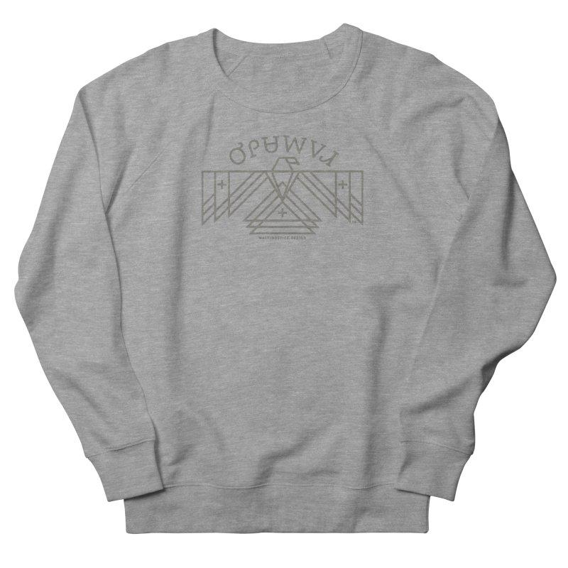 THUNDERBIRD + WALKINGSTICK DESIGN CO. Men's French Terry Sweatshirt by WalkingStick Design's Artist Shop