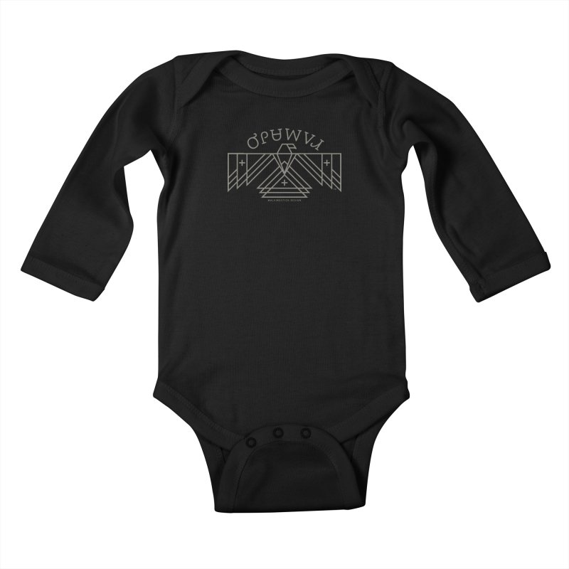 THUNDERBIRD + WALKINGSTICK DESIGN CO. Kids Baby Longsleeve Bodysuit by WalkingStick Design's Artist Shop