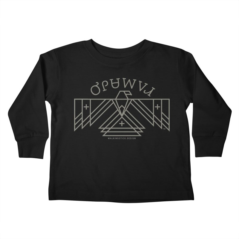 THUNDERBIRD + WALKINGSTICK DESIGN CO. Kids Toddler Longsleeve T-Shirt by WalkingStick Design's Artist Shop