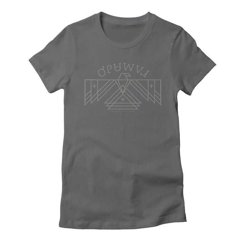 THUNDERBIRD + WALKINGSTICK DESIGN CO. Women's Fitted T-Shirt by WalkingStick Design's Artist Shop