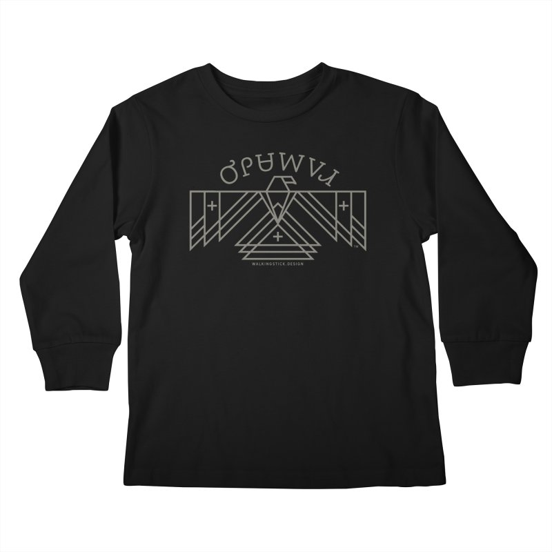 THUNDERBIRD + WALKINGSTICK DESIGN CO. Kids Longsleeve T-Shirt by WalkingStick Design's Artist Shop