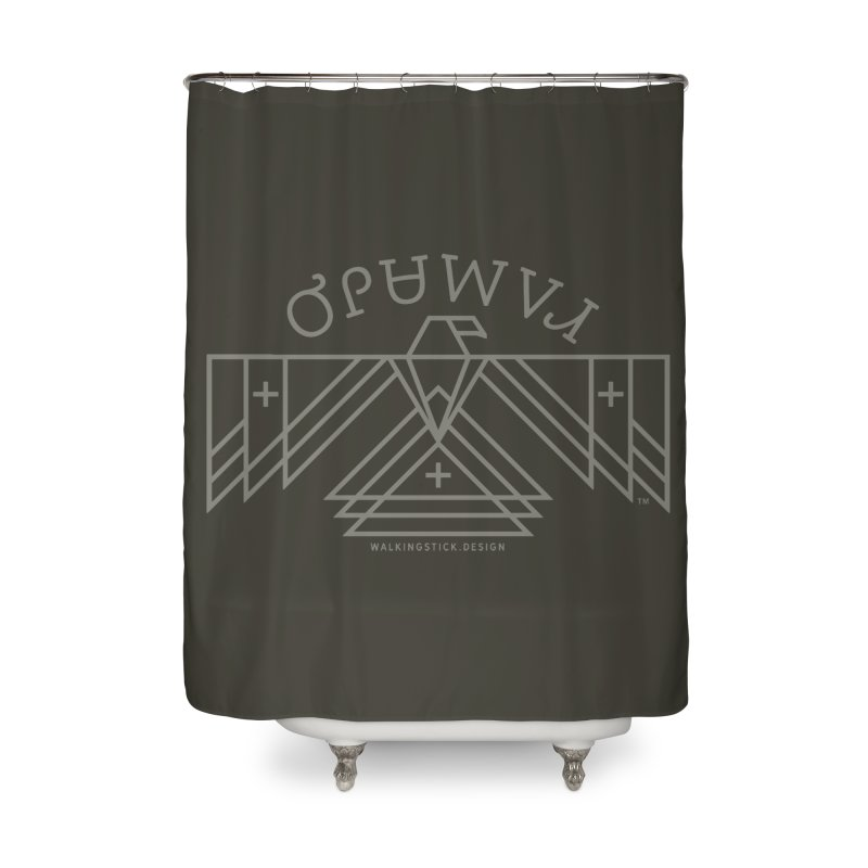 THUNDERBIRD + WALKINGSTICK DESIGN CO. Home Shower Curtain by WalkingStick Design's Artist Shop