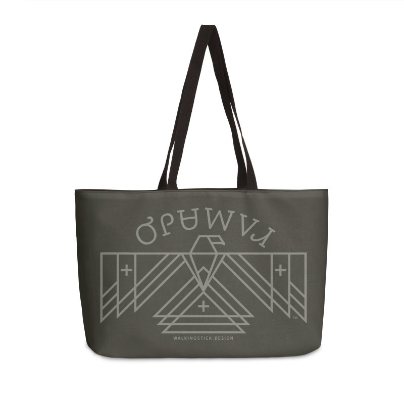 THUNDERBIRD + WALKINGSTICK DESIGN CO. Accessories Weekender Bag Bag by WalkingStick Design's Artist Shop