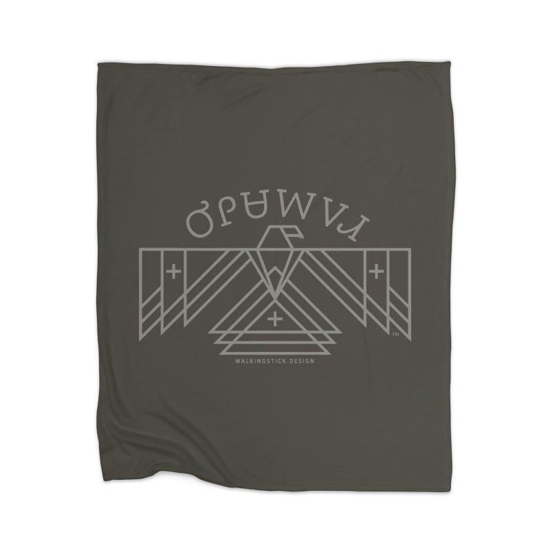 THUNDERBIRD + WALKINGSTICK DESIGN CO. Home Blanket by WalkingStick Design's Artist Shop