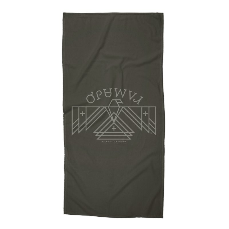 THUNDERBIRD + WALKINGSTICK DESIGN CO. Accessories Beach Towel by WalkingStick Design's Artist Shop
