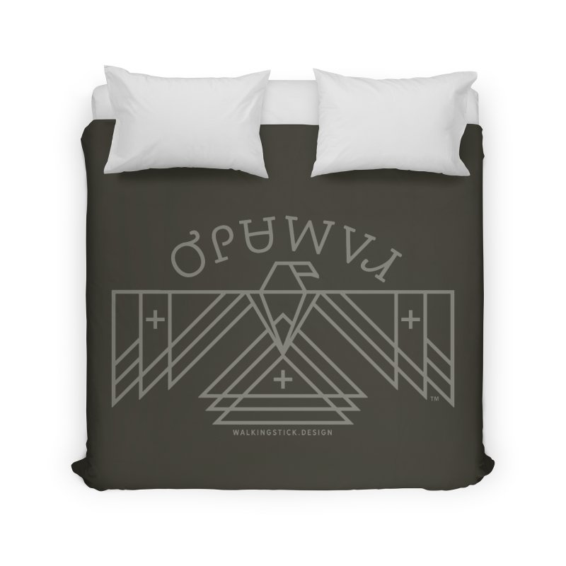 THUNDERBIRD + WALKINGSTICK DESIGN CO. Home Duvet by WalkingStick Design's Artist Shop