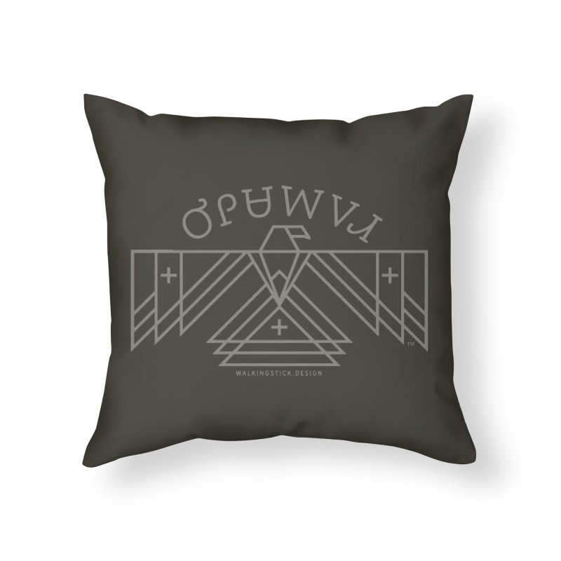THUNDERBIRD + WALKINGSTICK DESIGN CO. Home Throw Pillow by WalkingStick Design's Artist Shop