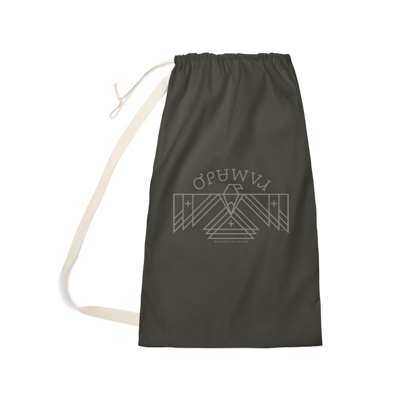 THUNDERBIRD + WALKINGSTICK DESIGN CO. Accessories Laundry Bag Bag by WalkingStick Design's Artist Shop