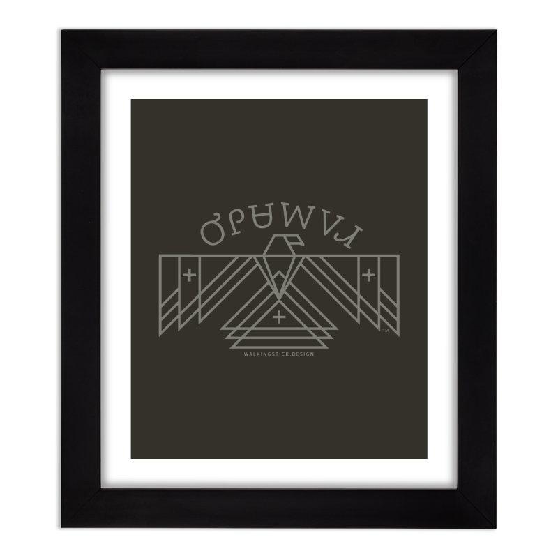 THUNDERBIRD + WALKINGSTICK DESIGN CO. Home Framed Fine Art Print by WalkingStick Design's Artist Shop