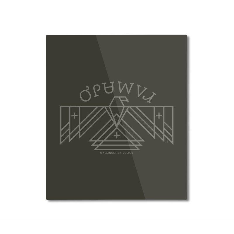 THUNDERBIRD + WALKINGSTICK DESIGN CO. Home Mounted Aluminum Print by WalkingStick Design's Artist Shop