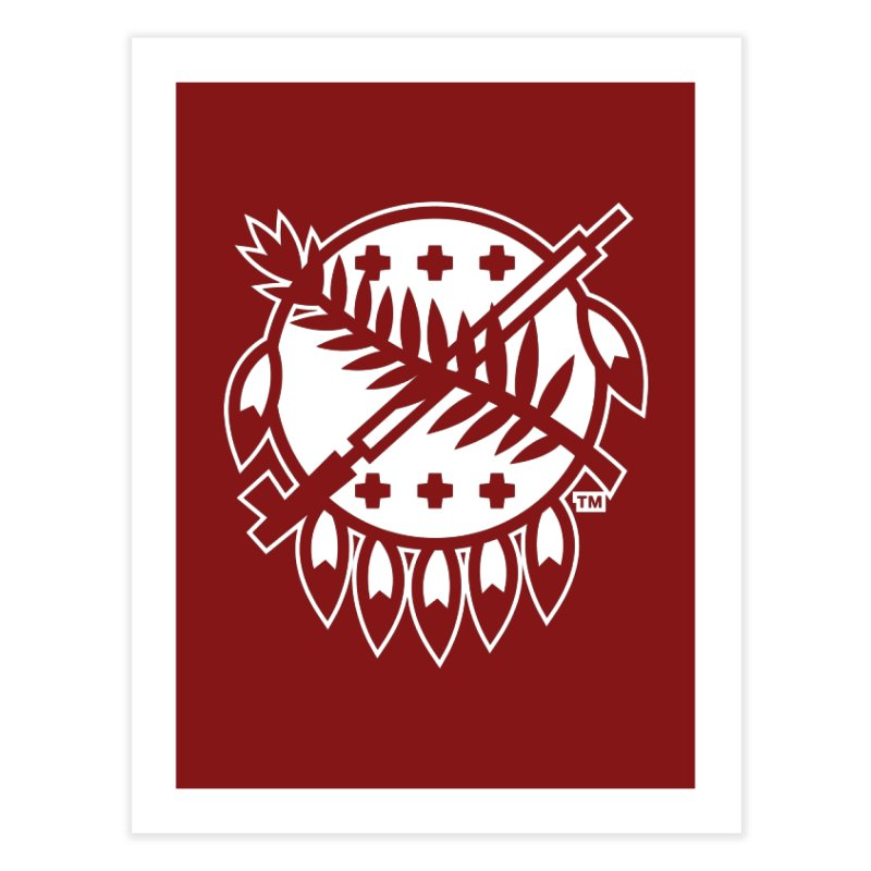 Osage Shield Home Fine Art Print by walkingstickdesign's Artist Shop