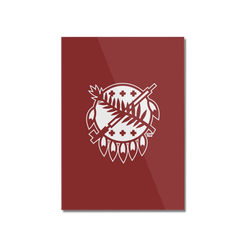 Osage Shield Home Mounted Acrylic Print by WalkingStick Design's Artist Shop