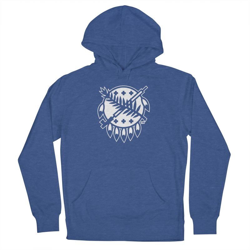 Osage Shield Women's French Terry Pullover Hoody by WalkingStick Design's Artist Shop