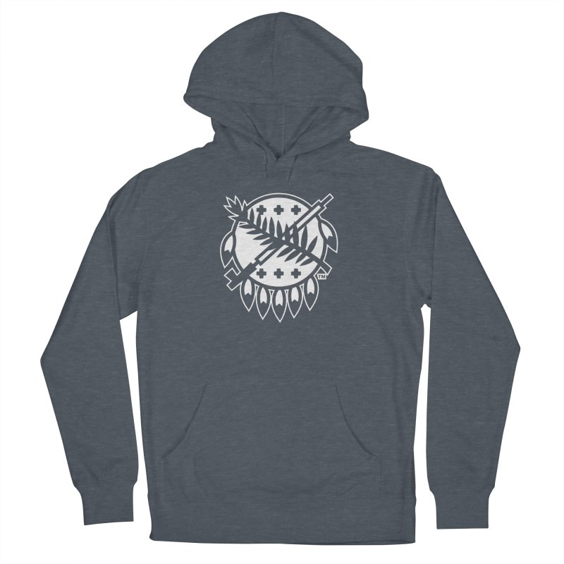 Osage Shield Men's French Terry Pullover Hoody by WalkingStick Design's Artist Shop