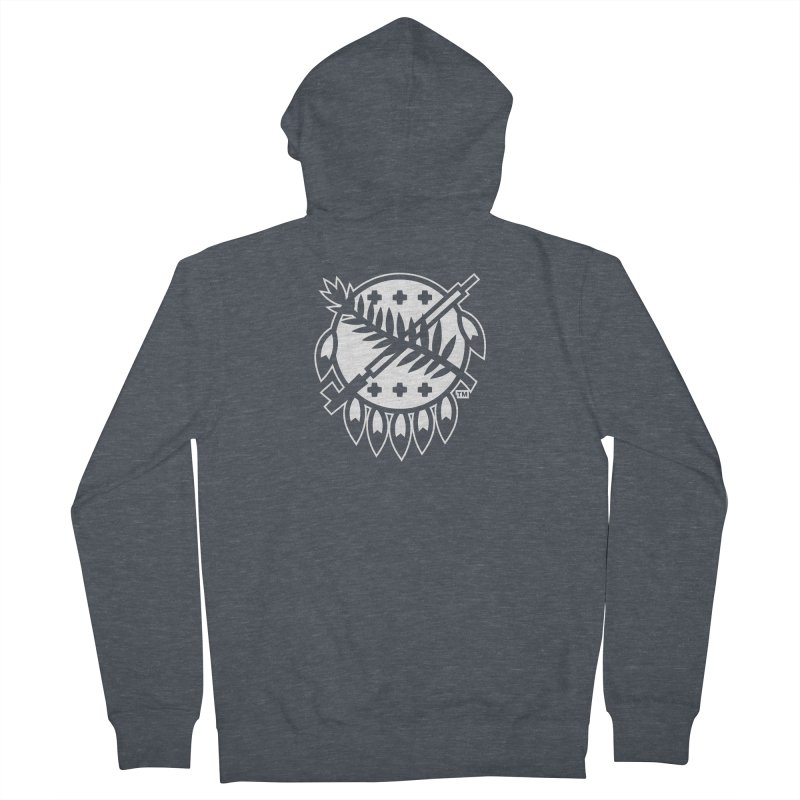 Osage Shield Men's French Terry Zip-Up Hoody by WalkingStick Design's Artist Shop