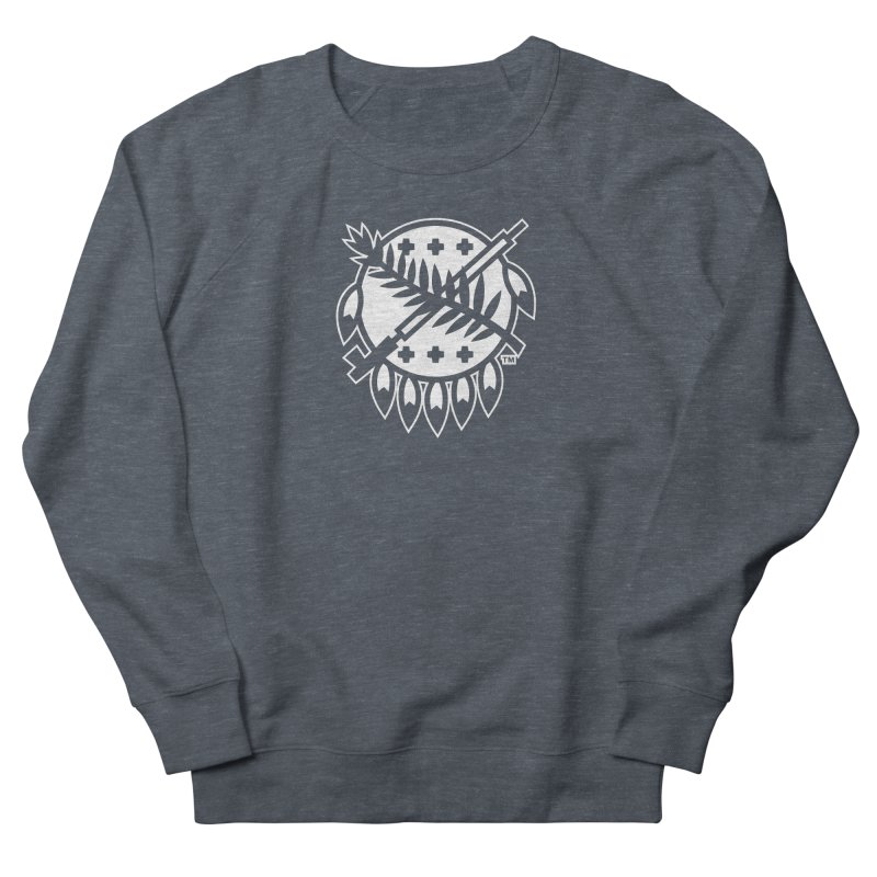 Osage Shield Women's French Terry Sweatshirt by WalkingStick Design's Artist Shop