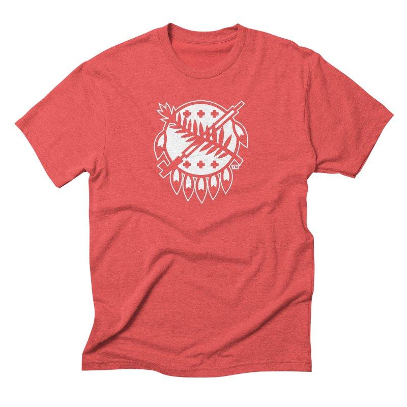 Osage Shield Men's Triblend T-Shirt by WalkingStick Design's Artist Shop