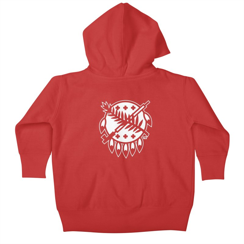 Osage Shield Kids Baby Zip-Up Hoody by WalkingStick Design's Artist Shop