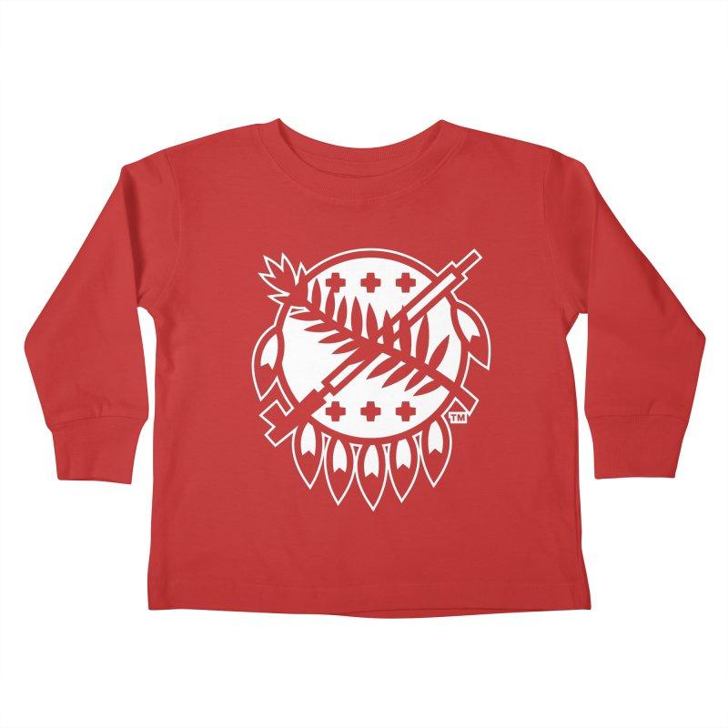 Osage Shield Kids Toddler Longsleeve T-Shirt by WalkingStick Design's Artist Shop