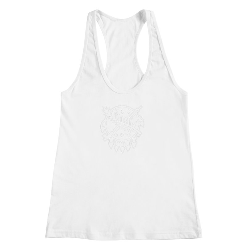 Osage Shield Women's Racerback Tank by WalkingStick Design's Artist Shop