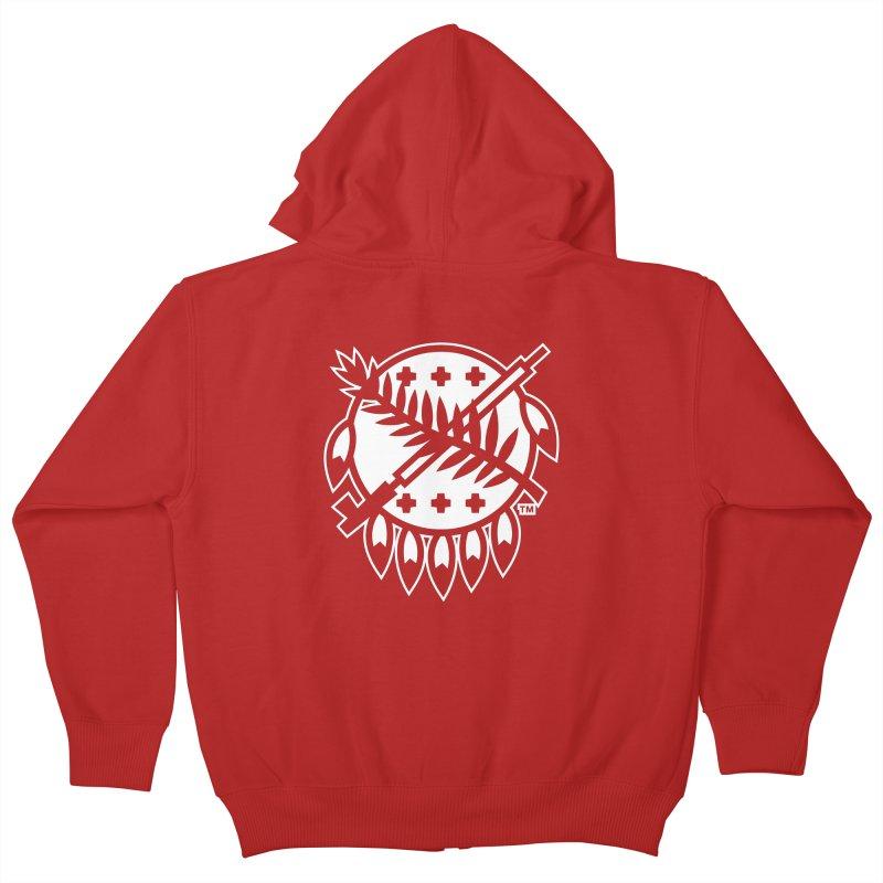 Osage Shield Kids Zip-Up Hoody by walkingstickdesign's Artist Shop