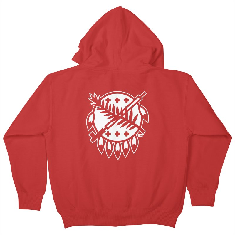 Osage Shield Kids Zip-Up Hoody by walkingstickdesign's Artist Shop