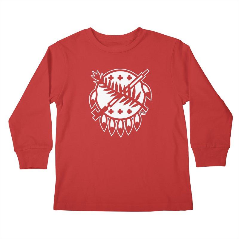 Osage Shield Kids Longsleeve T-Shirt by WalkingStick Design's Artist Shop