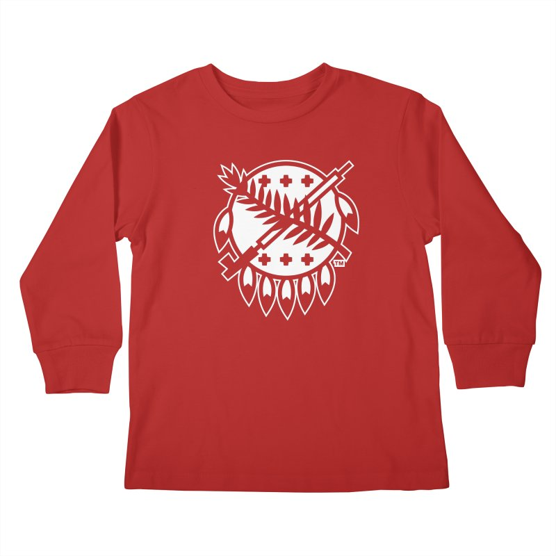 Osage Shield Kids Longsleeve T-Shirt by walkingstickdesign's Artist Shop