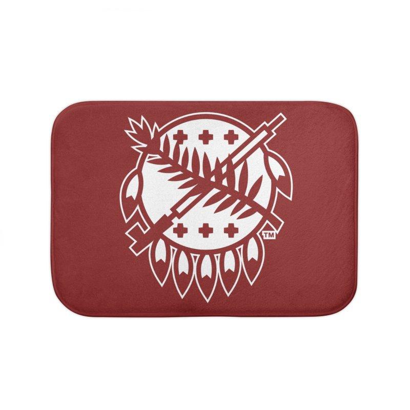 Osage Shield Home Bath Mat by WalkingStick Design's Artist Shop