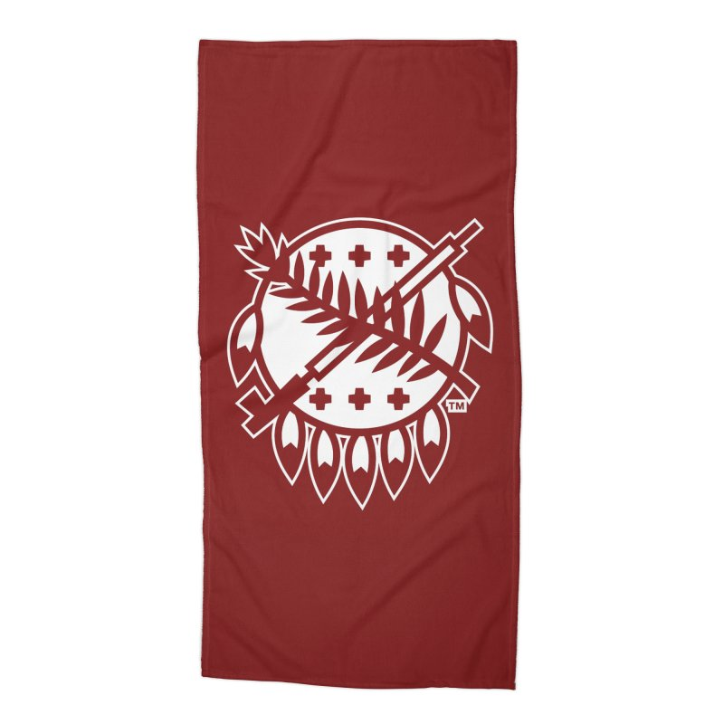 Osage Shield Accessories Beach Towel by walkingstickdesign's Artist Shop