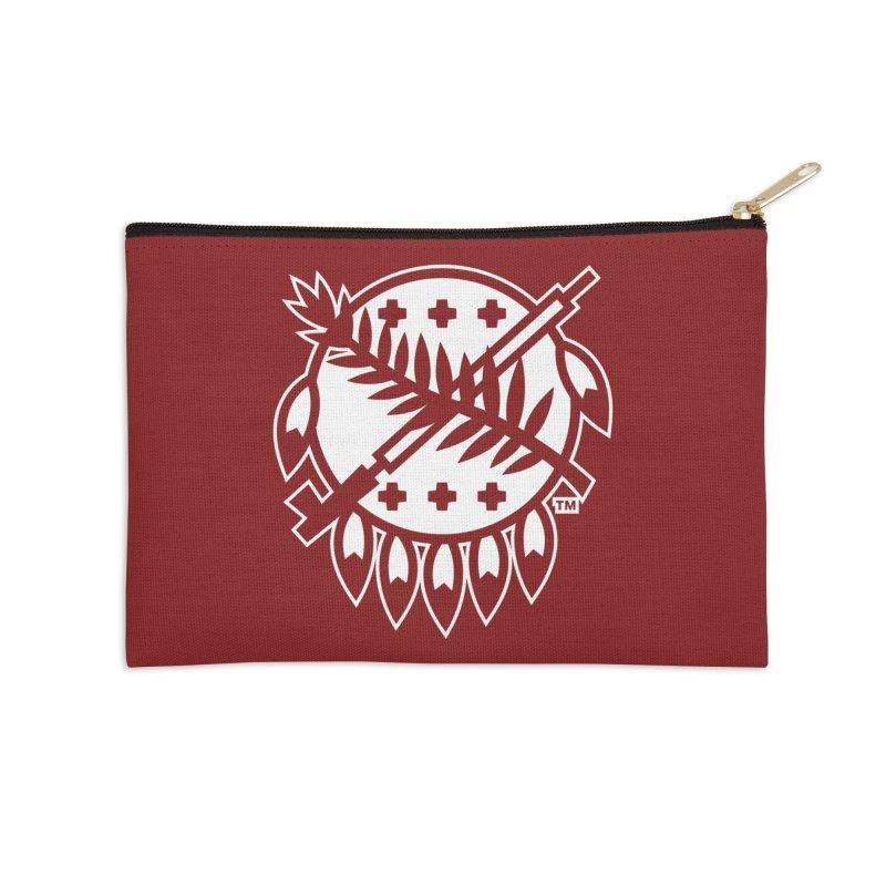 Osage Shield Accessories Zip Pouch by walkingstickdesign's Artist Shop