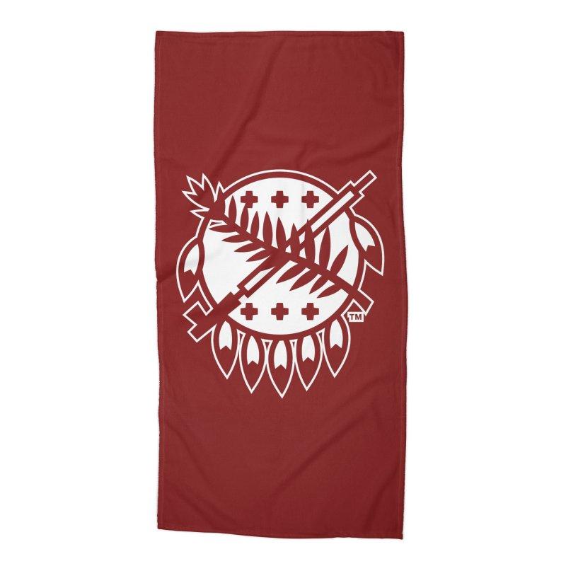 Osage Shield Accessories Beach Towel by WalkingStick Design's Artist Shop