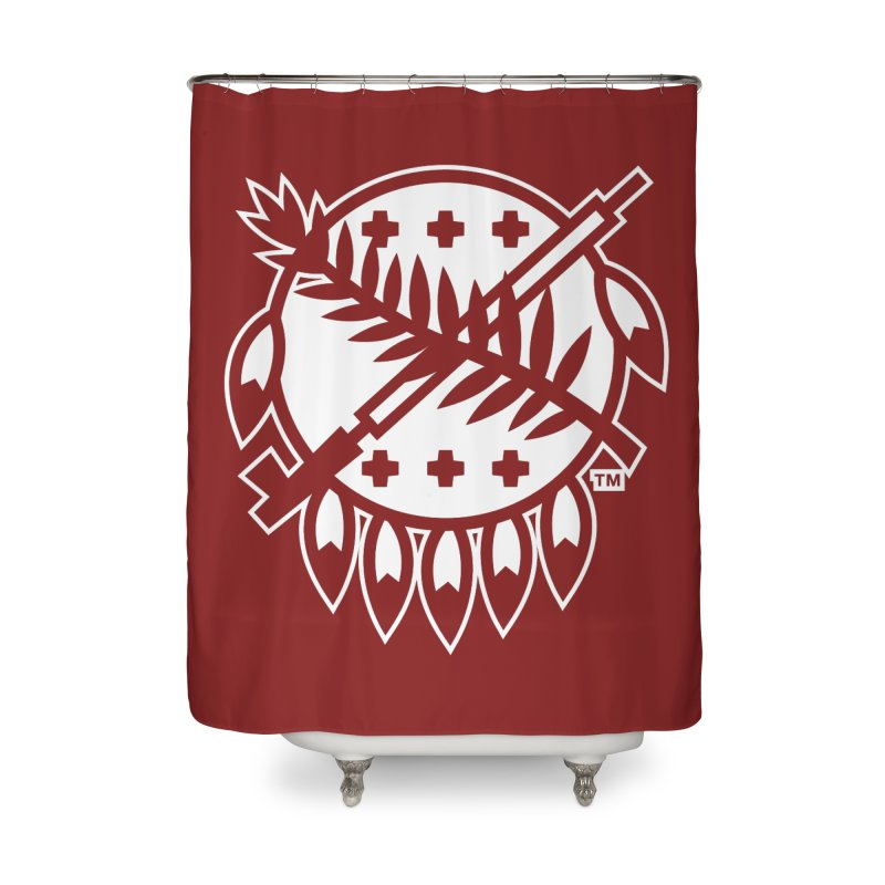 Osage Shield Home Shower Curtain by WalkingStick Design's Artist Shop
