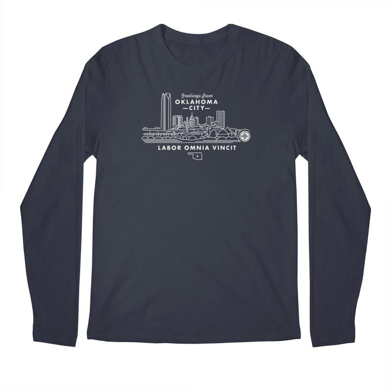 OKC Skyline Men's Longsleeve T-Shirt by WalkingStick Design's Artist Shop