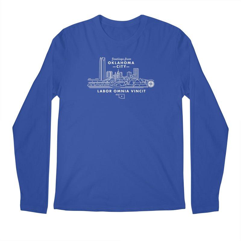 OKC Skyline Men's Longsleeve T-Shirt by walkingstickdesign's Artist Shop