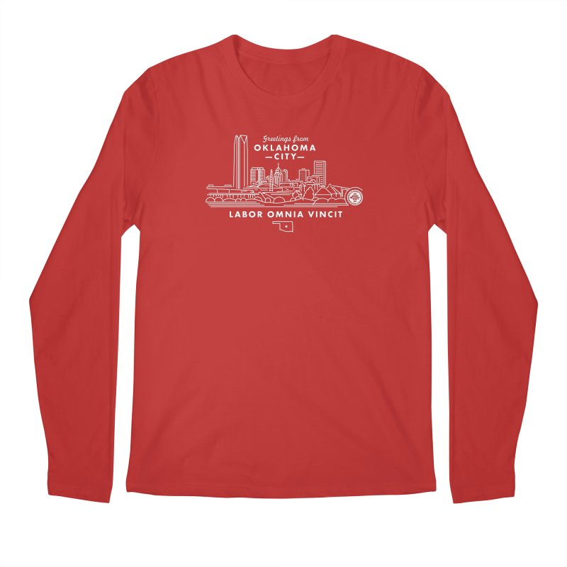 OKC Skyline Men's Regular Longsleeve T-Shirt by WalkingStick Design's Artist Shop